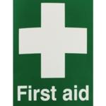 First Aid 150x110mm Self-Adh Sign