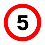 Works Traffic 5mph 450x450mm PVC Sign