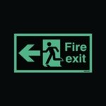 Fire Exit Man Arrow Left 150x450mm Sign