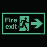 Niteglo Fire Exit Man Arrow Right Sign