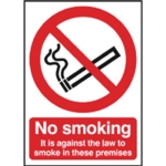 No Smoking 297x210mm Self Adh Sign