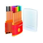 Stabilo Point 88 Fineliner Pen Ast Pk20