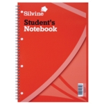 Silvine Students Notebook A4 Pk12
