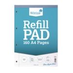 Silvine Narrow Ruled Refill Pad A4 Pk6
