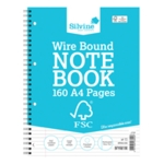Silvine Enviro Wire Notebook A4 Pk5