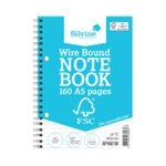 Silvine Enviro Wire Notebook A5 Pk5