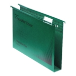 Rexel Crystalfile 30mm Latrl File Grn P2