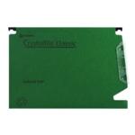 Rexel Crystalfile 15 mm Lat File Grn P50