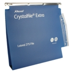 Rexel Crystalfile 50mm Latrl File Blu P2