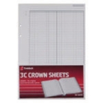 Crown 3C F1 Double Ledger Refill Pk100
