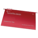 Rexel Crystalfile Suspn Files FS Red P50