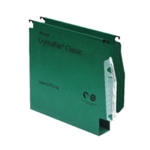 Rexel Crystalfile 30mm Latrl File Gn P50