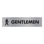 Acrylic Sign Gentlemen Aluminium