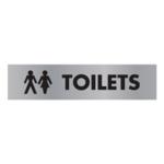 Acrylic Sign Toilet Aluminium 190x45mm