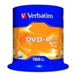 Verbatim DVD-R 16x NonPrint Spndle 43549