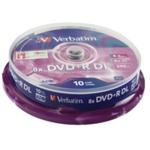 Verbatim DVD+R 8X Dbl Lyr NonPrint 43666