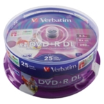Verbatim DVD+R 8X Dble Layer Print 43667