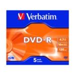 Verbatim DVD-R 4.7GB 16x Jewel Pk5 43519