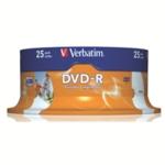 Verbatim DVD-R 16X Spindle Pk25 43538