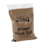 Dry Brown Rock Salt 25kg Bag Pk20 384072
