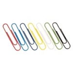 Assorted Large Plain Paperclips Pk100