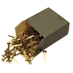 25mm Brass Pointed Paper Fastener Pk200