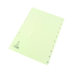 White A4 1-10 Index Dividers