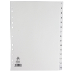 White A4 1-15 Index Dividers