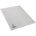 White A4 1-20 Index Dividers