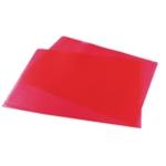 Red Cut Flush Folders Pk100