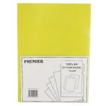 Yellow Cut Flush Folders Pk100