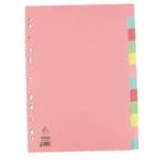 A4 Manilla 12-Pt Pink/Multi Tab Divider