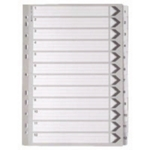 White A4 1-12 Mylar Index Dividers