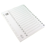 White A4 1-15 Mylar Index Dividers