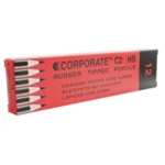 Contract Pencil/Eraser Tip Pk12