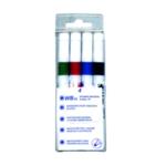 Chisel Tip Assrtd Pk4 Whiteboard Marker