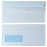 White DL Window Envelopes 90gsm S/Seal