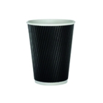 35cl Black 12oz Ripple Cup Pk500