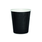 Black 25cl Ripple Disposable Cup Pk500