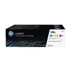 HP 128A C/M/Y L/jet Toner Pk3 CF371AM