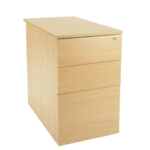 FF Serrion Desk High Ped D600 Oak