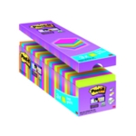 Post-it S/Sticky 76x76mm Assorted Pk24