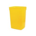 Addis Yellow Base 60 Ltr Flip Top Bin