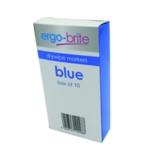 Ergo-Brite Drywipe Marker Grip Blue Pk10