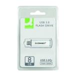 Q-Connect Silver/Black USB 8Gb Drive