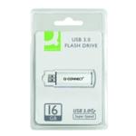 Q-Connect Sil/Blk USB Slider 16Gb Drive