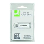 Q-Connect Sil/Blk USB Slider 64Gb Drive