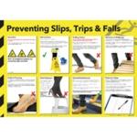 Hlth/Safe Chart Preventing Slips Trips