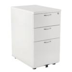 Jemini 3 Drw Desk High White