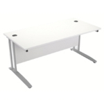 FF Arista 1600mm Rectangular Desk White